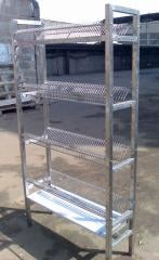 Rack for drying of ware