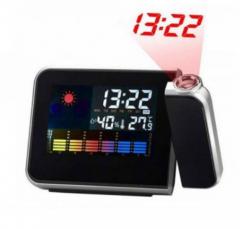 Часы метеостанция с проектором времени на стену