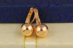 Серьги шарики 1,8 см шарик 8 мм