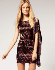 Шёлковое платье Karen Millen в бордовых тонах