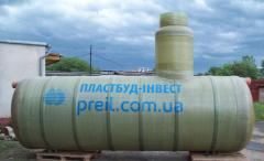 Tanks for water fiberglass to 160 m3