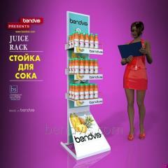 Рекламные стойки для сока торговое оборудование