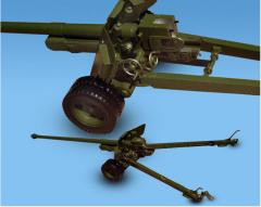 Models of automatic machines, machine guns, guns,