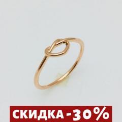 Женское кольцо Плетенное сердце, размер 19