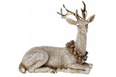 Декоративная статуэтка Олень, 21.5см, цвет -