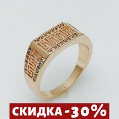 Женское кольцо Греческий рисунок, размер 17