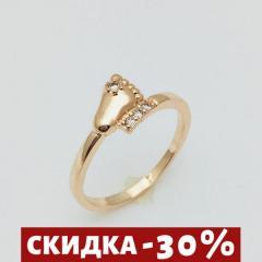 Женское кольцо Детская ножка, размер 19 ювелирная