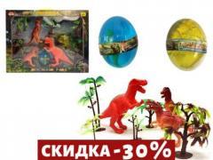 Игровой набор Парк динозавров + 2 лизуна в...