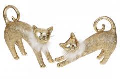 Декоративная статуэтка Кошка, 24см, 2 вида, цвет -