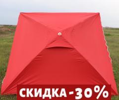 Зонт уличный 2,5*2,5 метра с anti-UF напылением и