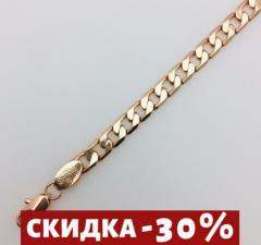 Браслет,  плетение Панцирное D-21 H-0.6 см