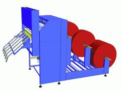 Machines for the otmotka of the polyethylene film