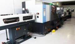 Turning and milling processing of metal on