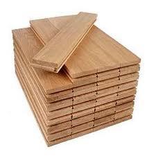 The parquet is piece oak.
