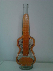 Бутылка декорированная Скрипка