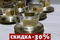 Чайный Подарочный Сервиз 6 чашек + 6 блюдец...