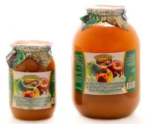 Сок персиково-яблочный с мякотью