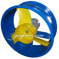 Вентилятор осевой ВО 06-300-4 с электродвигателем 1,5 кВт, 3000 об/мин