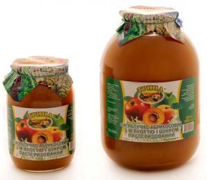Сок яблочно -абрикосовый с мякотью