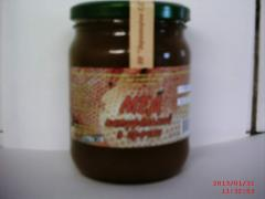 Honey of buckwheat 0,5 l weight is 0,7 kg