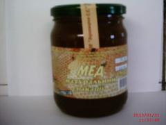 Honey of akatsiyevy 0,5 l net weight is 0,7 kg