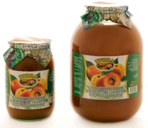 Juice apricot with pulp