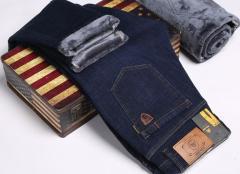 Зимние утепленные мужские джинсы брюки JEEP