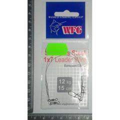 Поводок WFG 1×7 15см 12кг №10