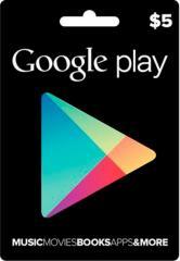 Google Play Gift Card 5$ (5 долларов) для Гугл