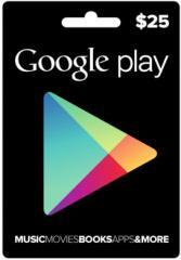 Google Play Gift Card 25$ (25 долларов) для Гугл
