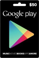 Google Play Gift Card 50$ (50 долларов) для Гугл