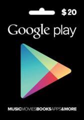 Google Play Gift Card 20$ (20 долларов) для Гугл