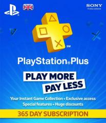 PlayStation Plus на 365 дней UK (365 days/12