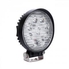 LED фара круглая 27W, 9 ламп, узкий луч 10/30V
