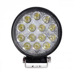 LED фара круглая 42W, 14 ламп, узкий луч 10/30V