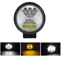 Фара LED круглая 42W (+ led х + strobe light)