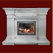 Fire chambers are chimney, Afini's Fireplace,