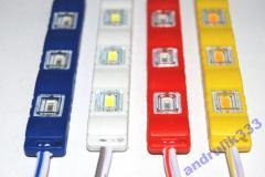 Светодиодный модуль синий 3 SMD 5730 12V IP65