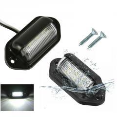 Плафон освещения номерного знака 6 led 12V(66x33x22mm)