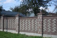 """Заборный блок """"Рваный камень"""""""