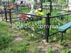 Fences forged for graves in the cemetery
