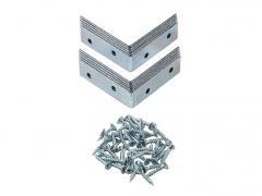 Набор металлических уголков (10 шт.) металлик