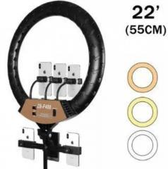 Кольцевая LED лампа ZB-F488 (3 крепл.тел.) (пульт)
