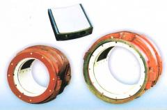 Sliding bearings with babbitovy inser
