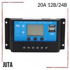 Контроллер заряда 20А 12В/24В JUTA с дисплеем и