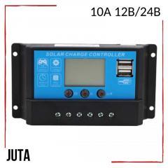 Контроллер заряда 10А 12В/24В JUTA с дисплеем и
