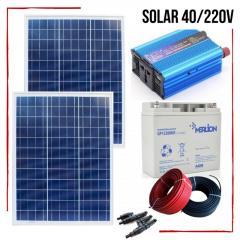 40W автономная солнечная электростанция Solar