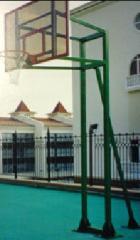 Rack basketball on 3 suppor