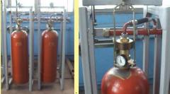 Modules of gas fire extinguishing one and
