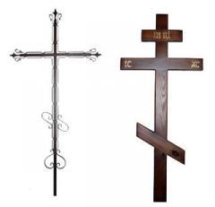 Кресты на могилу умершего. Надмогильные кресты